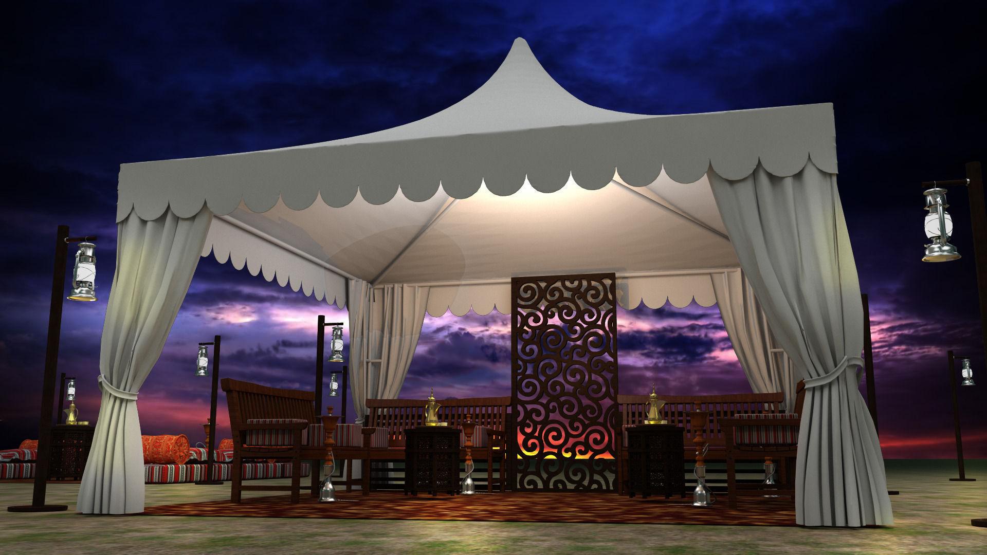 event tent arabic 3d model max obj 3ds fbx mtl ... & Event Tent arabic 3D model | CGTrader