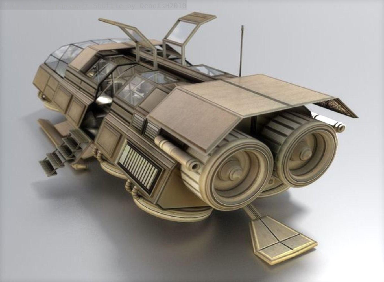 Futuristic Transport Shuttle