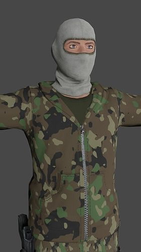 Tactical Soldier Low-poly 3D model Ready for games