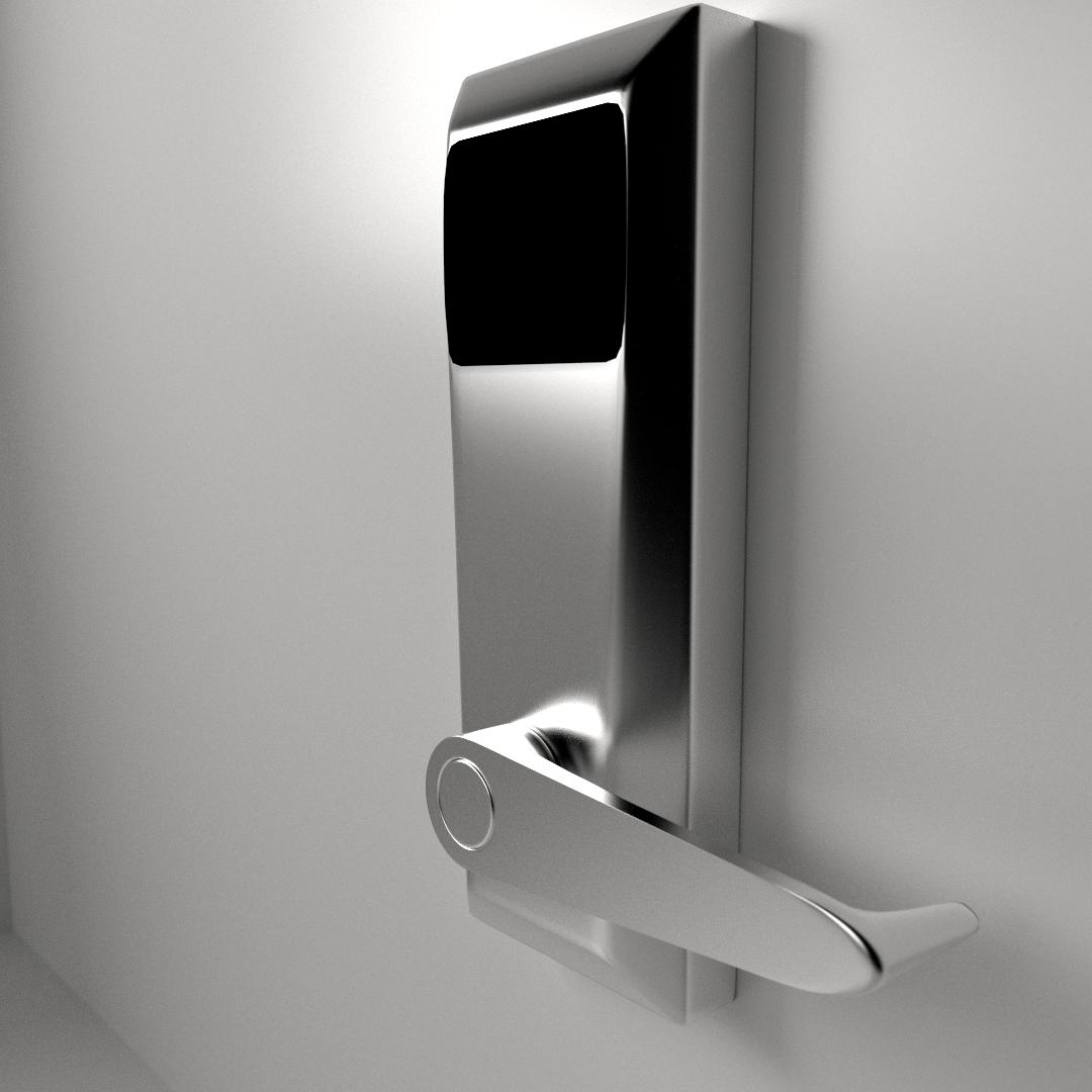 Keycard Rfid Sensor Lock 3d Model Fbx Blend Dae Cgtrader Com
