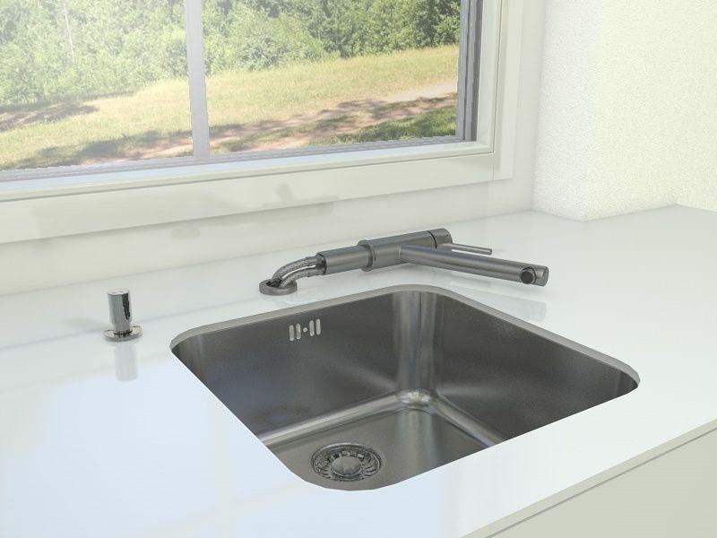 sink with faucet Villeroy Boch Como Window 3D model OBJ FBX C4D