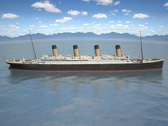 rms titanic cruise ship 3d model max obj mtl 3ds fbx c4d lwo lw lws 1