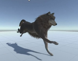 Wolf Rigged Animated and Game Ready 3D Model