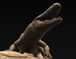 3d realistic alligator high poly