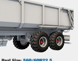 Trailer Wheel 560 60R22-5 3D Model