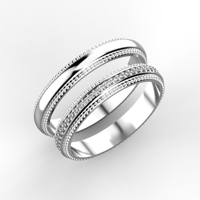 elegant wedding rings 3d model stl 3dm 3 - Elegant Wedding Rings