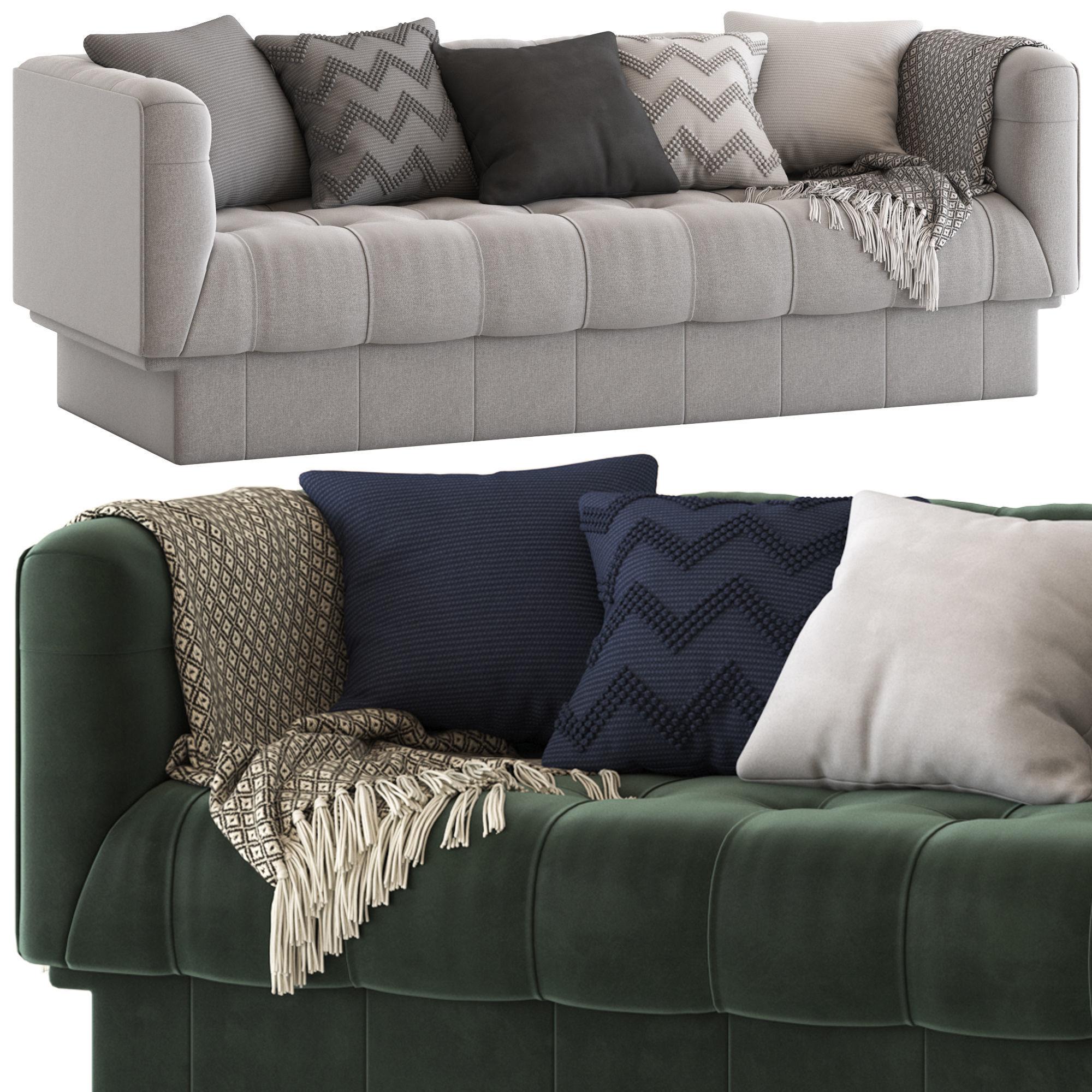 Globewest Humphrey Square 3 Seater Sofa