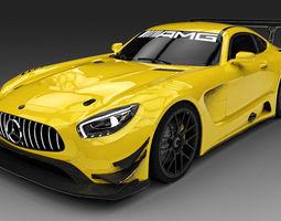 2016 Mercedes AMG GT3 3D Model