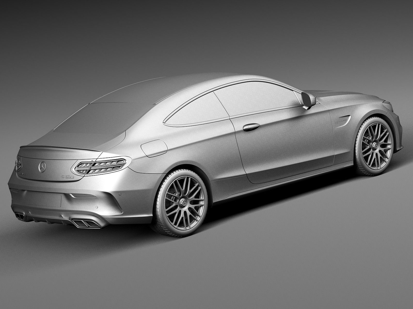 Mercedes benz c63 amg coupe 2017 3d model max obj 3ds fbx for Mercedes benz c63 2017