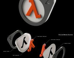 do-it-yourself half-life 2 logo lightbox 3d printable model
