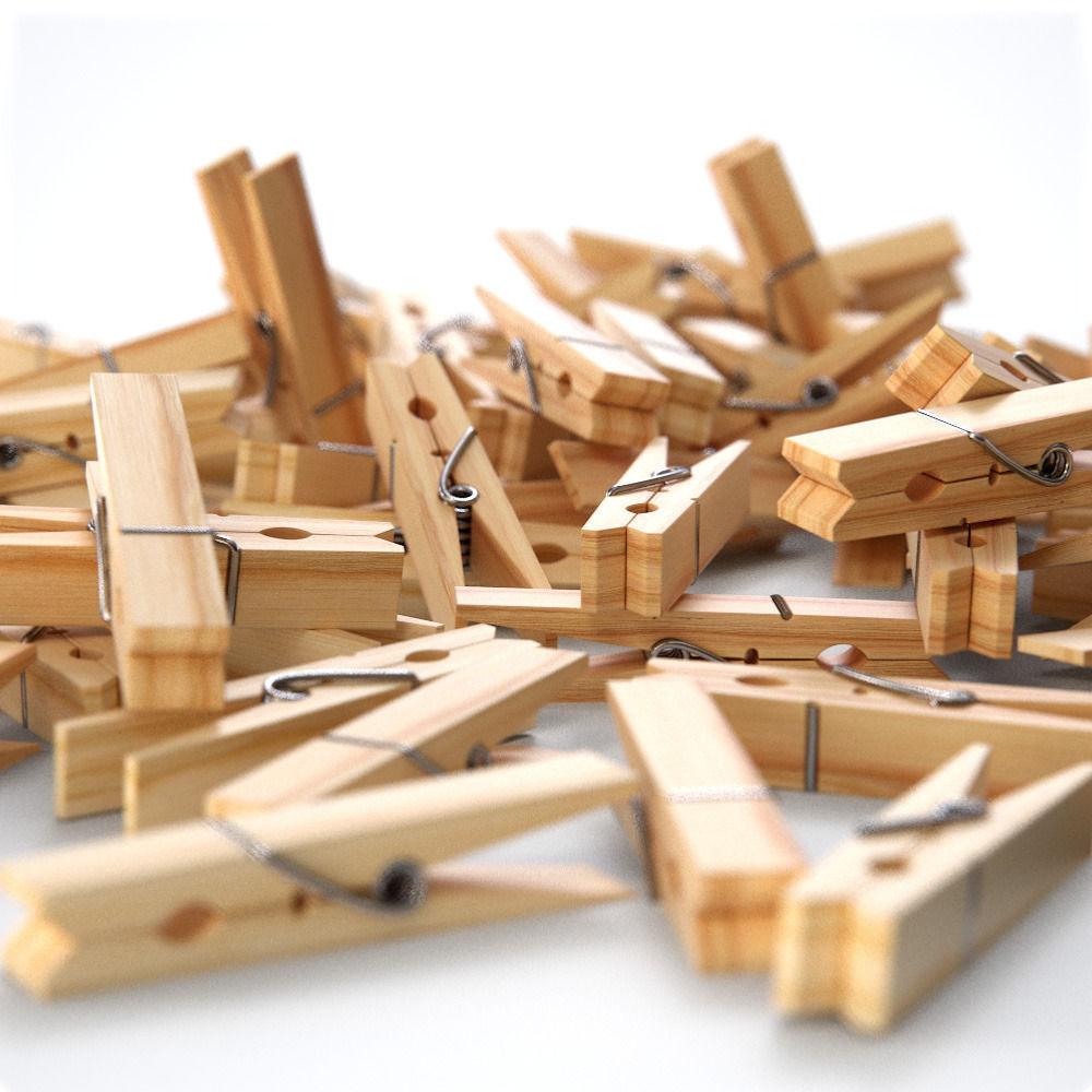 Wooden Clothes Peg   3D model