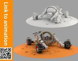 3D mars Mars rover