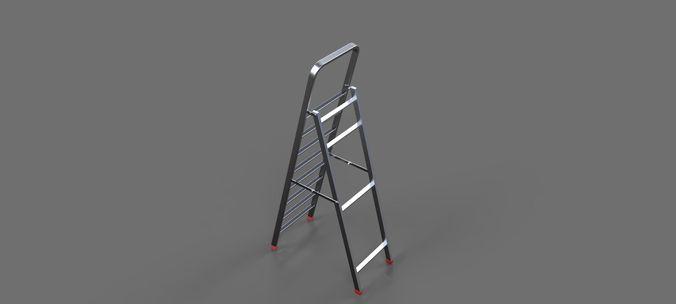 ladder 1 3d model max obj 3ds sldprt sldasm slddrw ige igs iges mtl 1