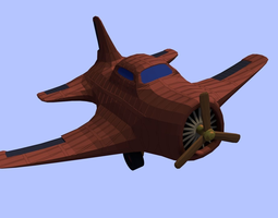 3D asset Low Poly Air plane