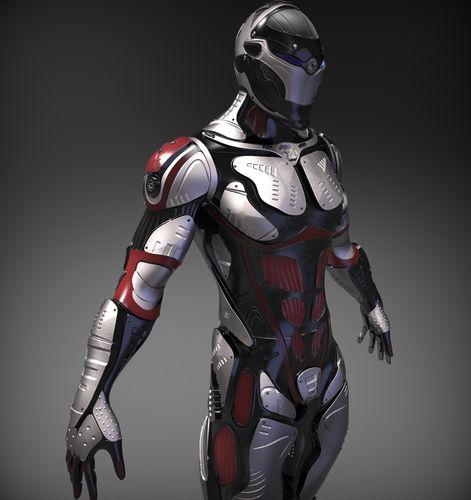 sci-fi character 3d model obj ztl 1
