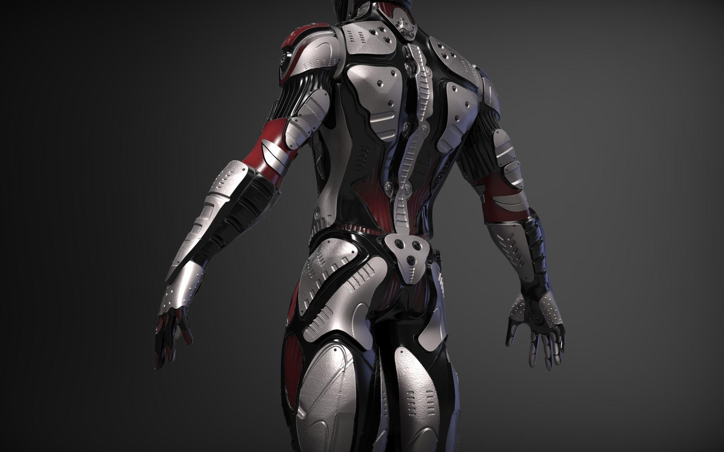 Sci-Fi Character 3D Model OBJ ZTL | CGTrader.com