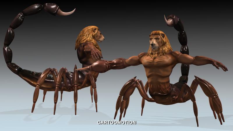 3d Model Vr Ar Ready Lion Scorpion Horoscopes Cgtrader
