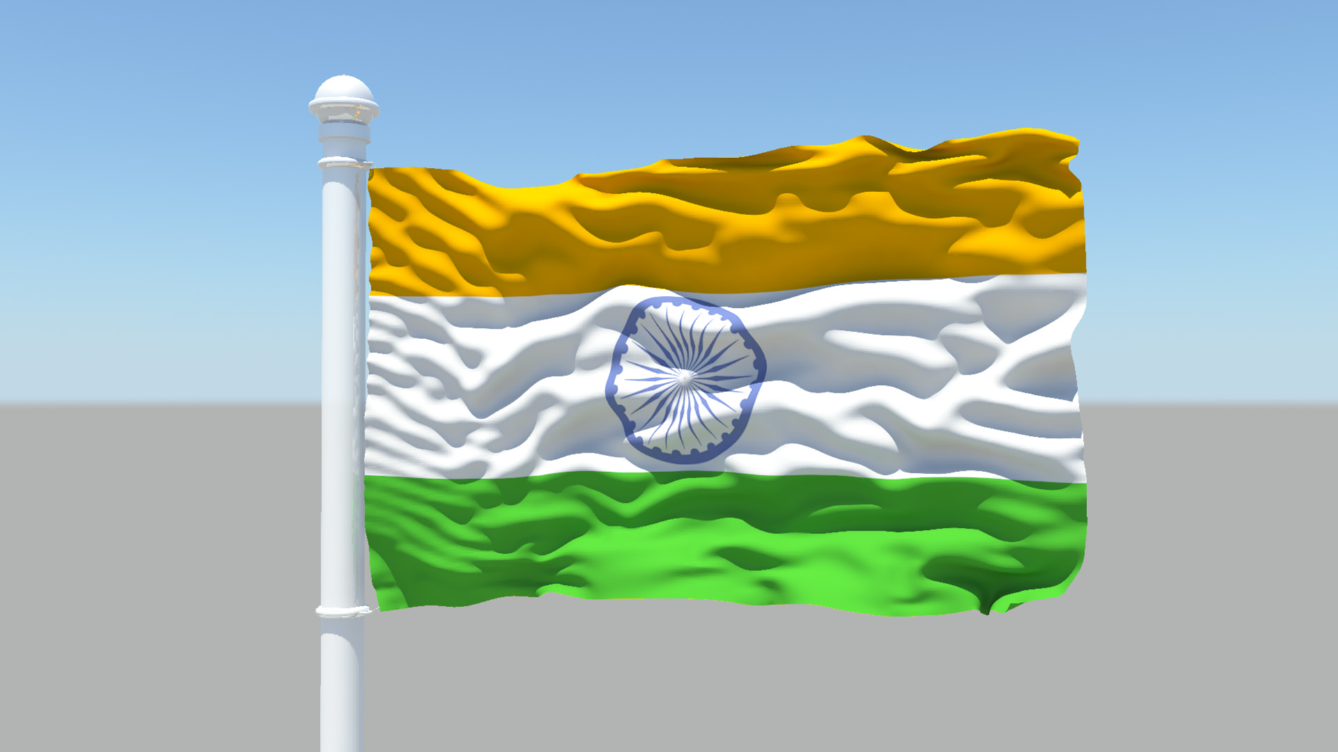 3d Indian Flag 25075 Cgtrader