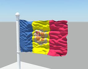 Andorra Flag 3D model