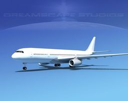 3d  airbus a330-200 lp rigged