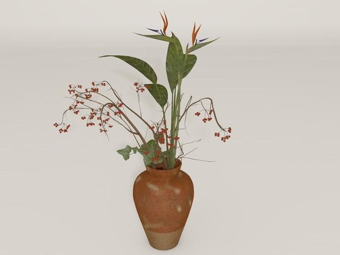Flower Vase Plant Free 3d Model Cgtrader