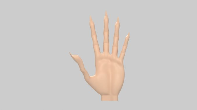 stylised human hands collection 3d model max obj mtl 1