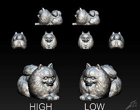 Cute Dog Pomeranian for 3D Print STL