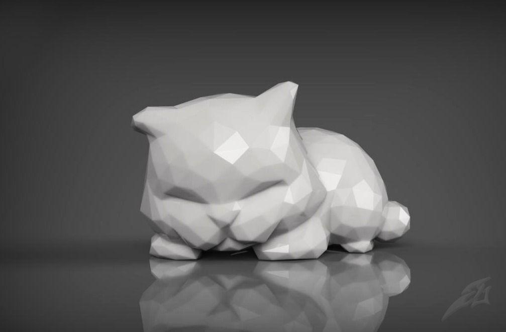 Top Cute Sleepy Cat for 3D Print STL | CGTrader UC82