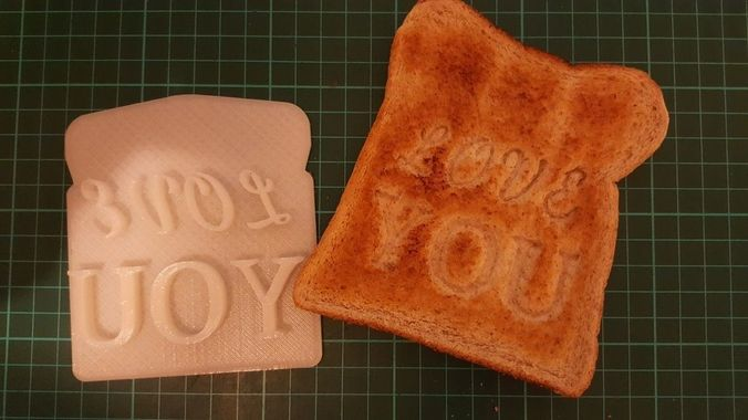 Customizable Valentines Day Toast Stamp