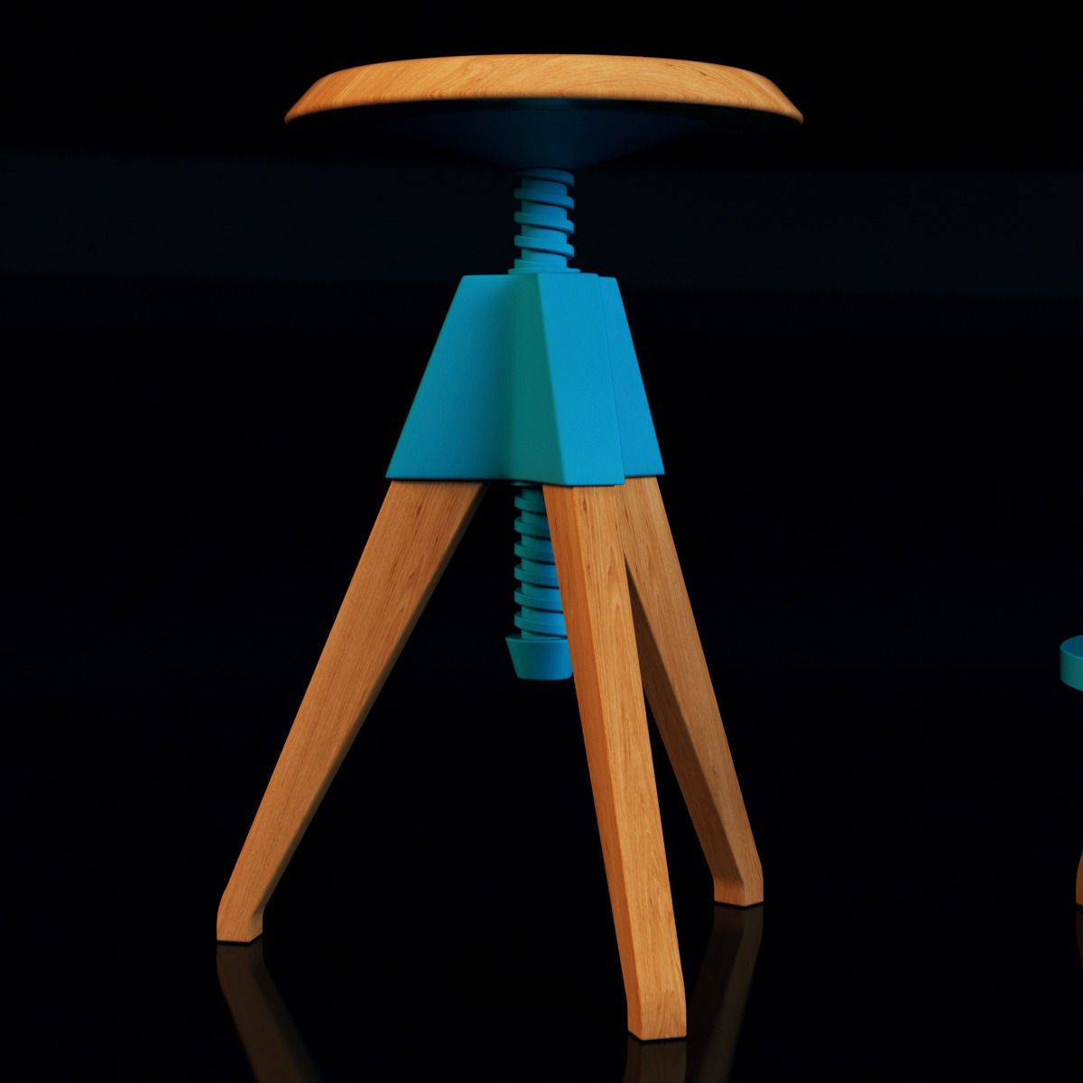 Cosmo Jerry Bar Stool 3d Model Max Obj 3ds Fbx Mtl