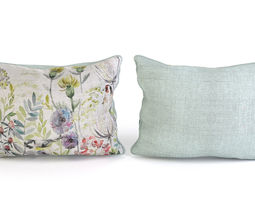 voyage cushion - morning chorus -piped pillow 3d