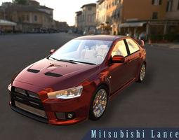 3D Mitsubishi Lancer EvoX