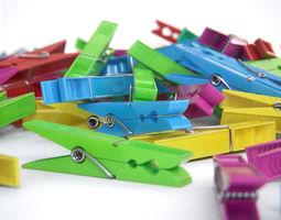 Plastic Clothes Peg 3D asset
