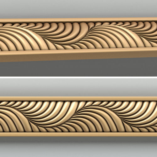 Architectural Molding Product : Wood molding d cgtrader