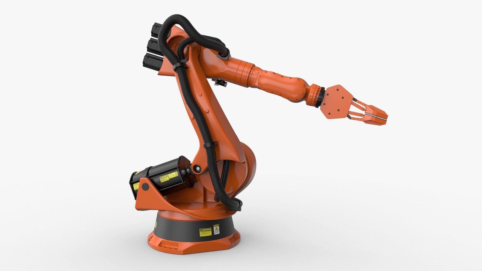 KUKA 210 2 Cinema 4D Rigged industrial robotic arm