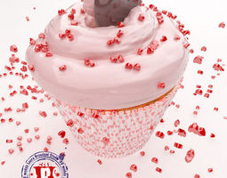 st valentine  cupcakes 3d