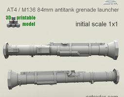 3d printable model spm-006-01print  at4 m136 grenade launcher