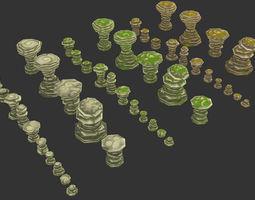 3D asset Rock Formation 05