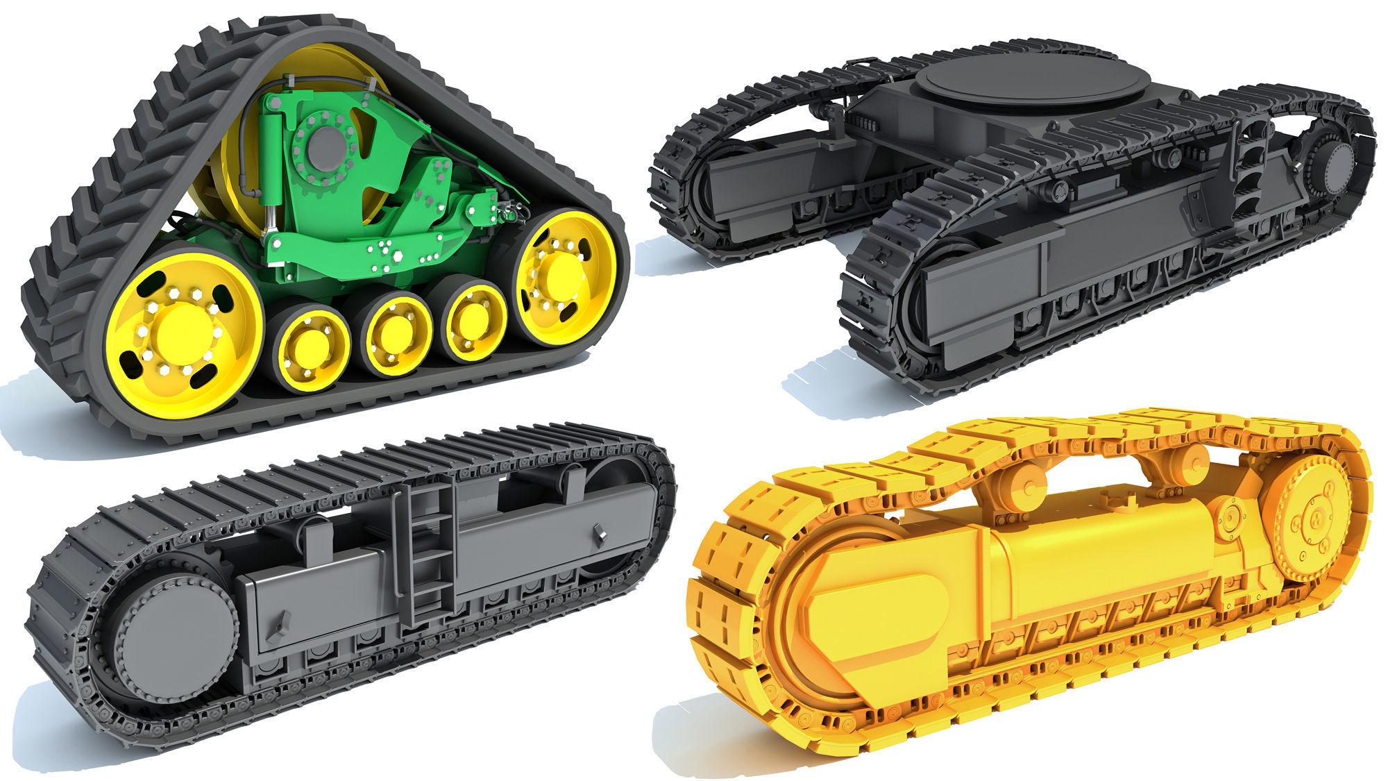 Bulldozer Excavator Track Set