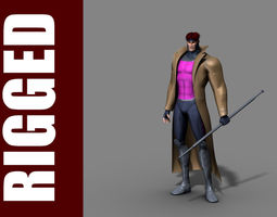 3D model Gambit Rig