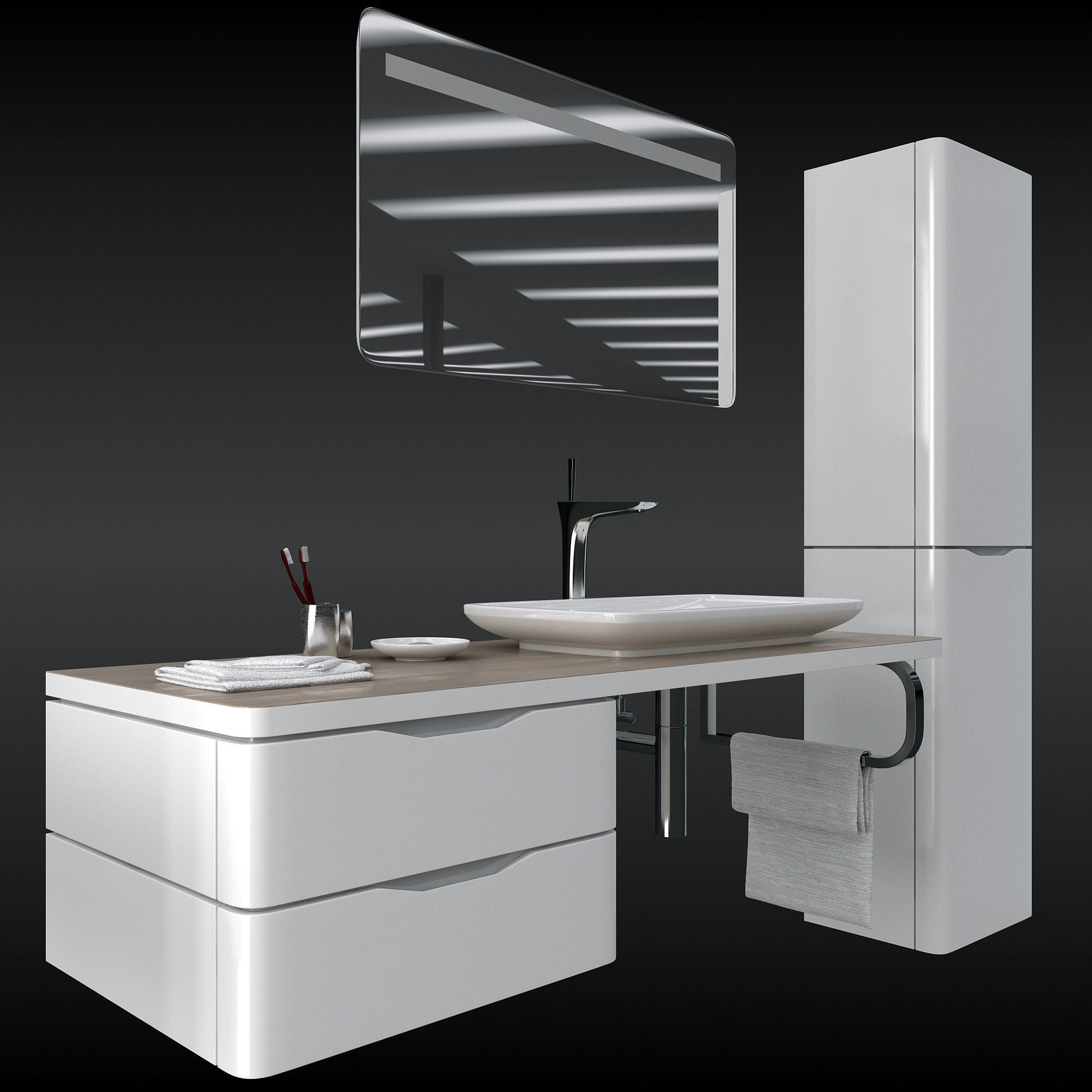 duravit puravida set 3D model | CGTrader