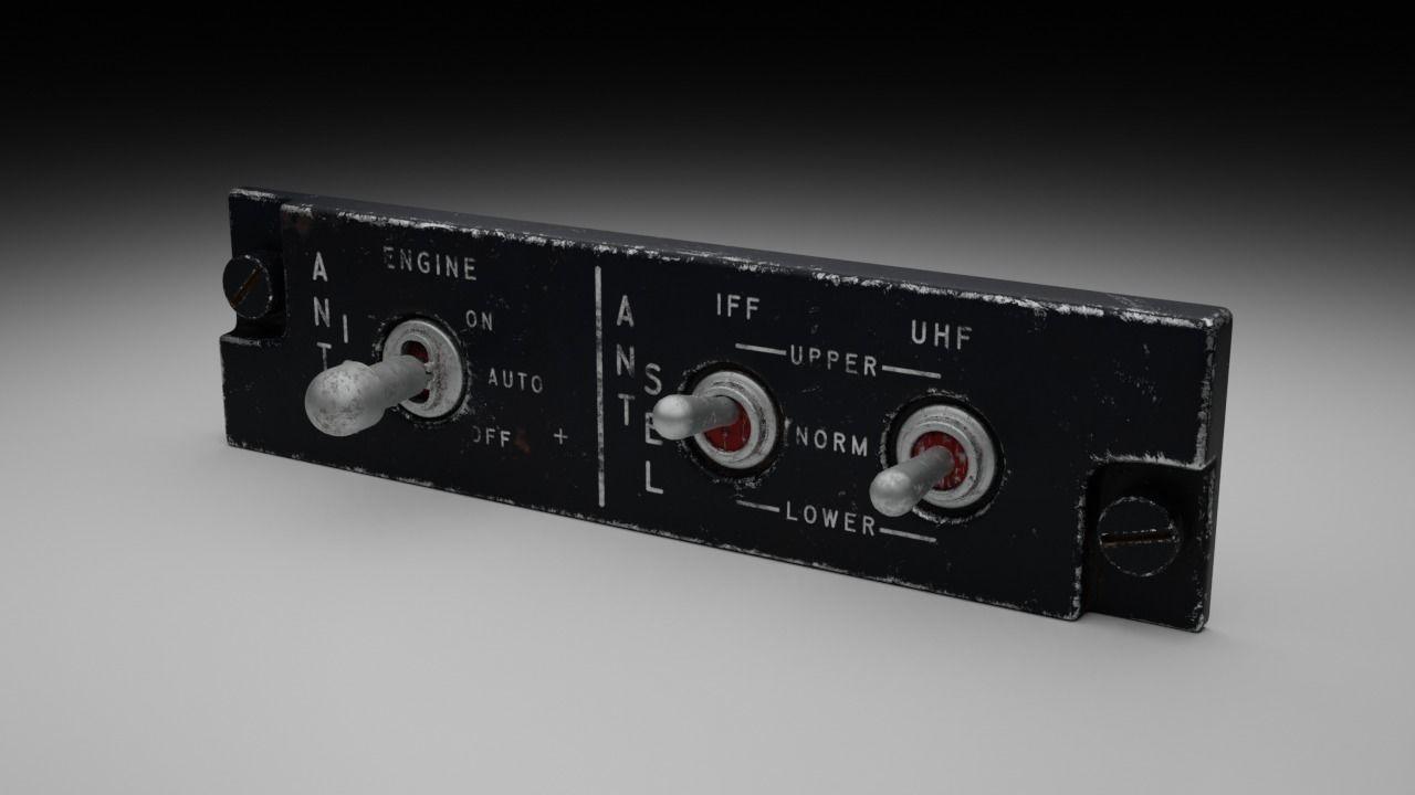 F16 ANTI ICE - ANTENNA SELECTOR Panel