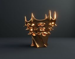 Vase of king of Mars 3D kitchen