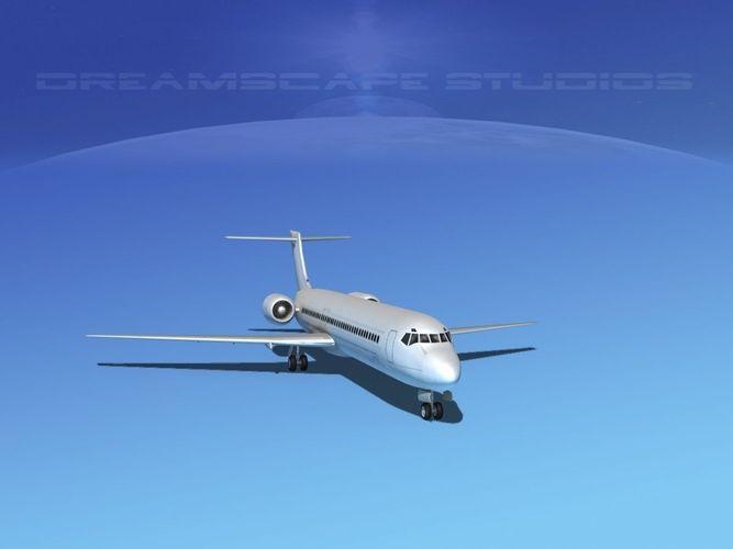 boeing 717-200 lp ss 3d model low-poly max obj mtl 3ds lwo lw lws stl u3d 1