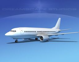 game-ready boeing 737-300 lp ss 3d model