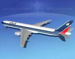 3d model rigged boeing 777-300 air transat