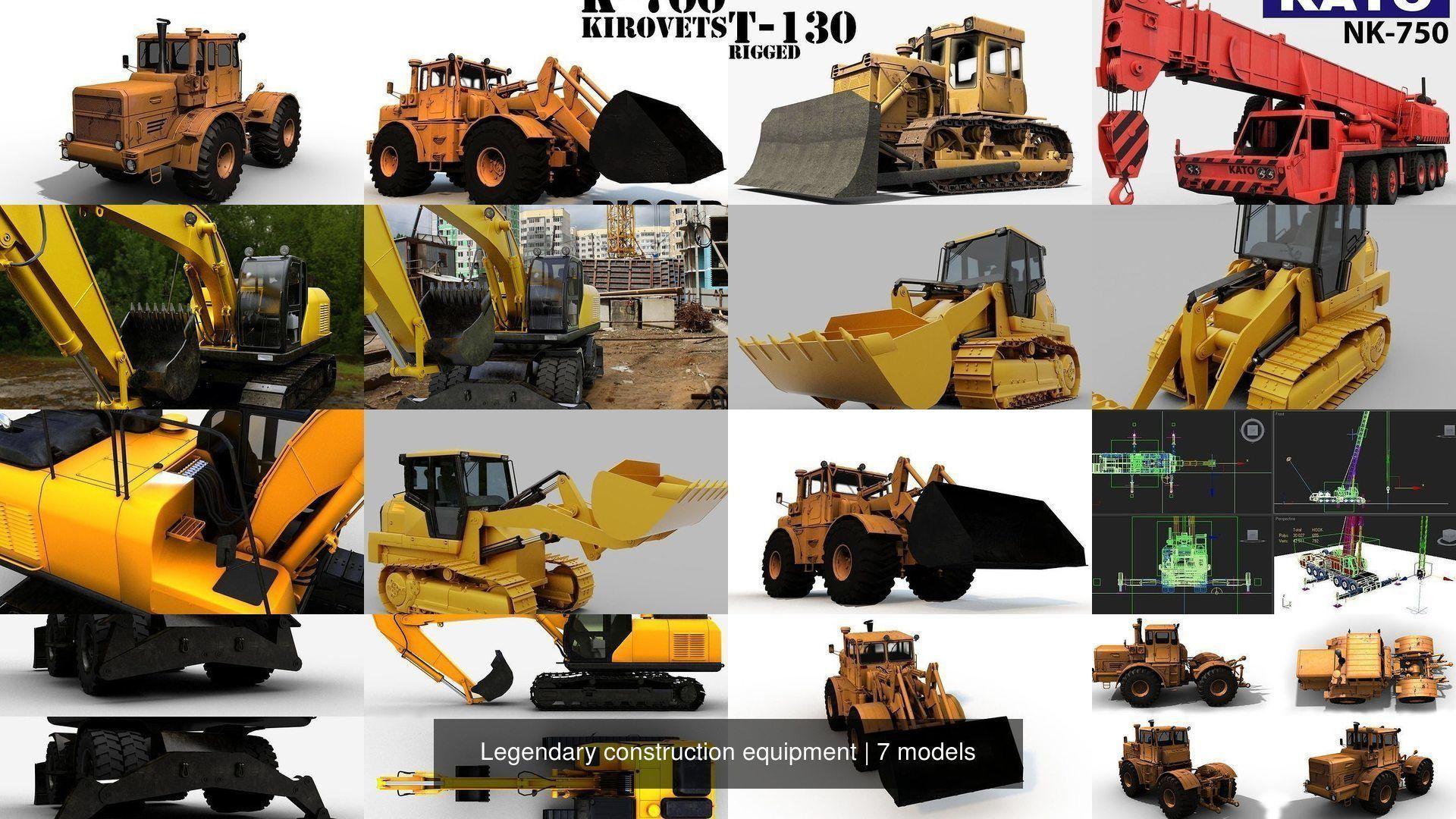 Legendary construction equipment
