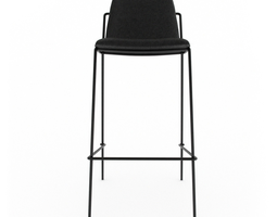 industry west sling bar stool upholstered 3d model game-ready