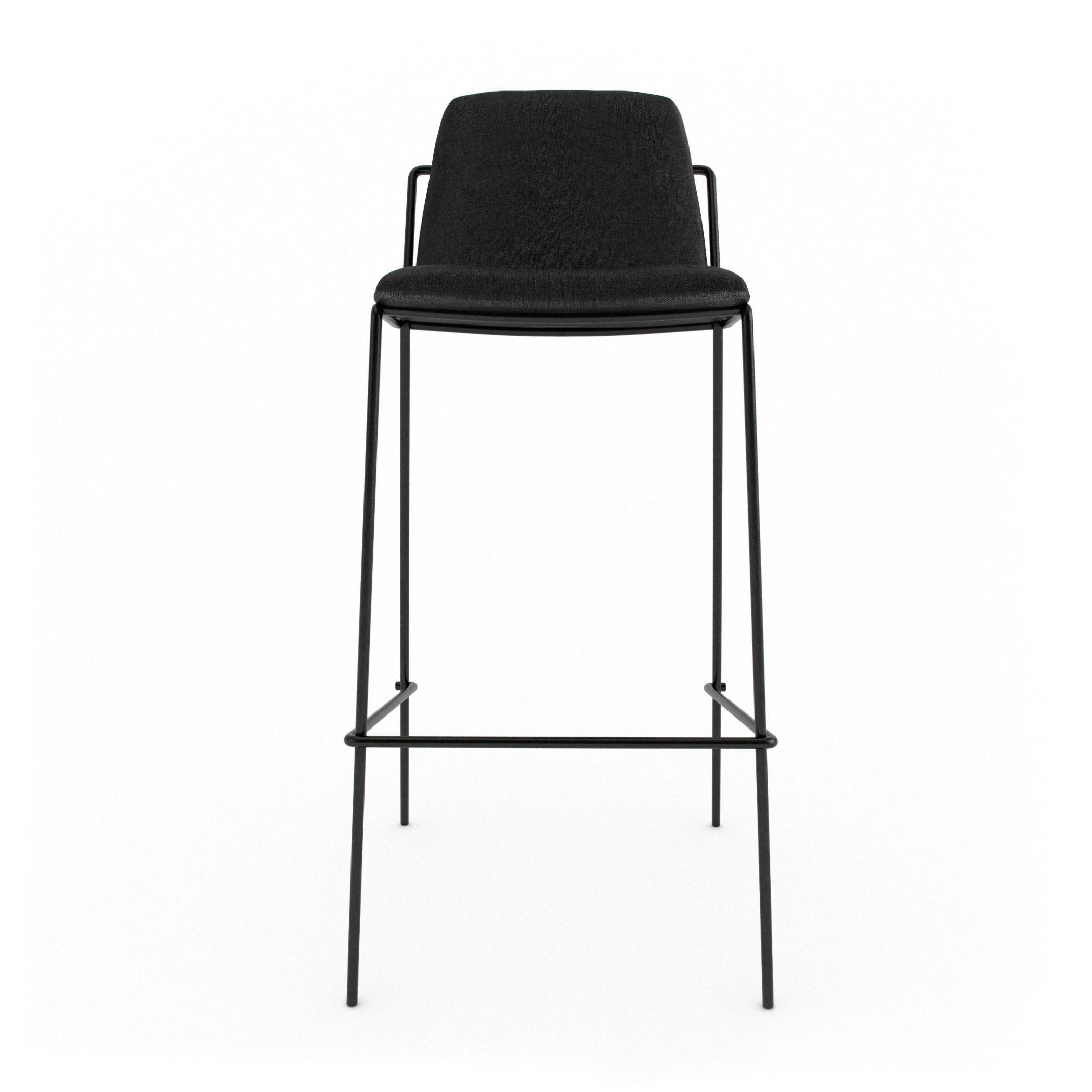 Astonishing Industry West Sling Bar Stool Upholstered 3D Model Machost Co Dining Chair Design Ideas Machostcouk