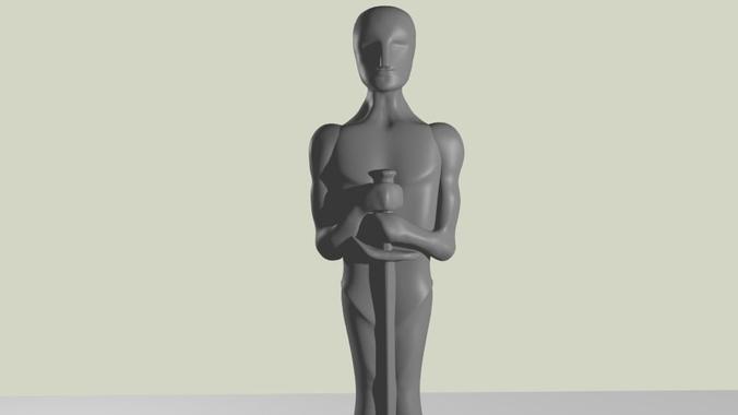 oscar statue 3d printable model cgtrader